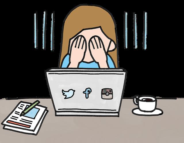 dívka a sociální sítě