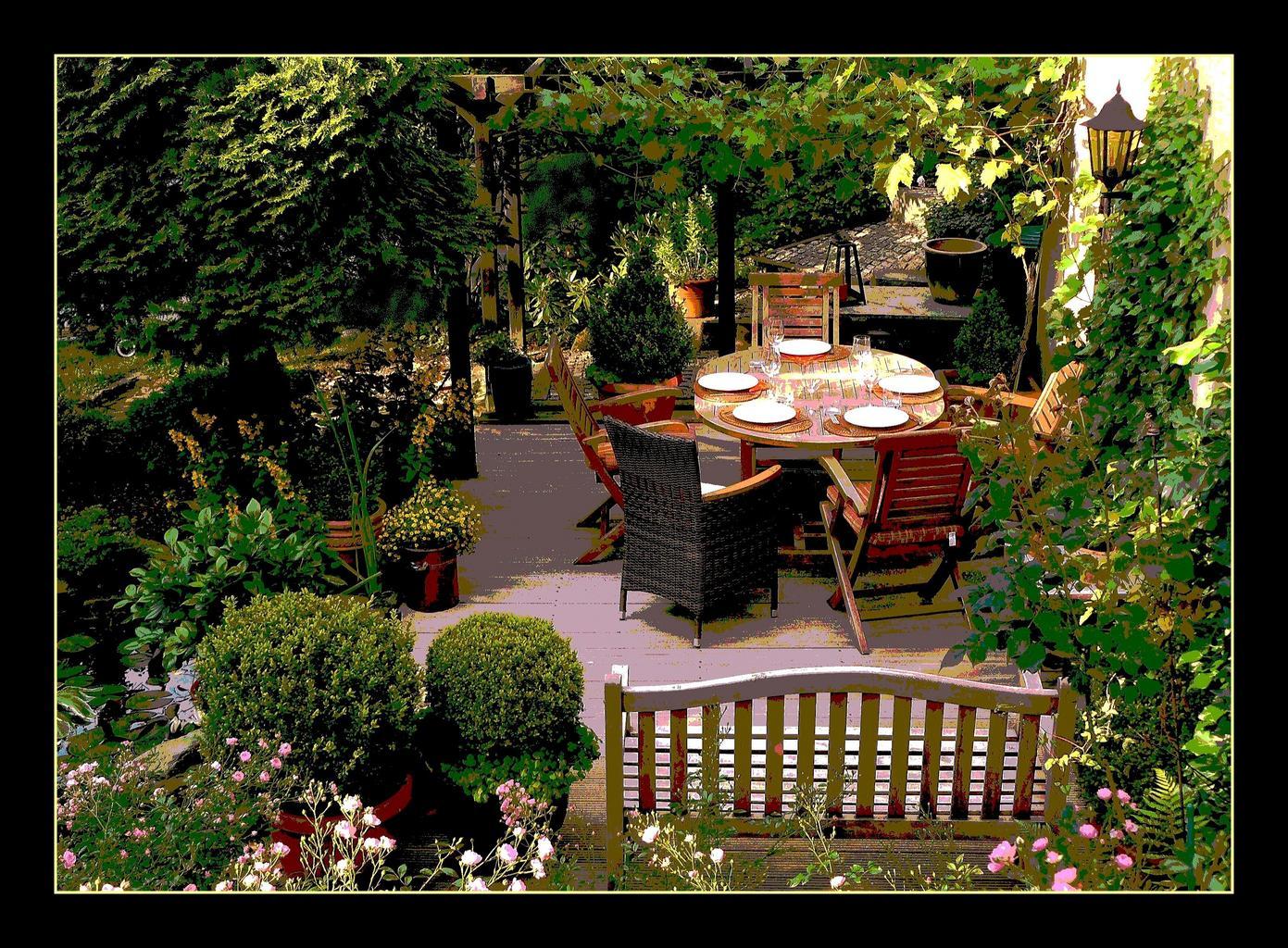 Květiny na terasách, balkónech, verandách i v zahradě